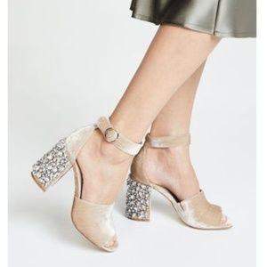 Joie Velvet Peep-toe Heeled Sandal